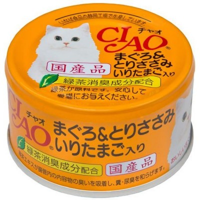 CIAO 吞拿魚雞肉及炒蛋貓罐頭 - 80g