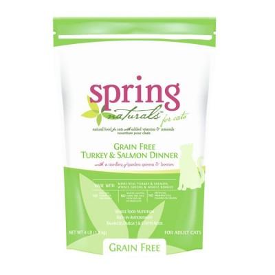 Spring Naturals 無穀物火雞+三文魚貓糧 4.5kg